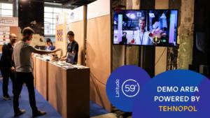 Demo area powered by Tehnopol – full list of startups.