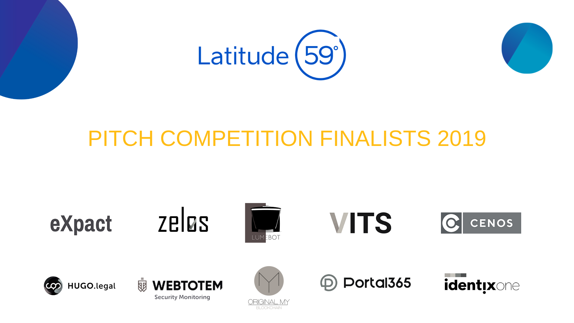 10 Startups take the spotlight at the Latitude59 2019 Pitch